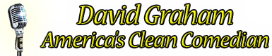 David Graham – America's Clean Comedian – The 1# Sticky Logo